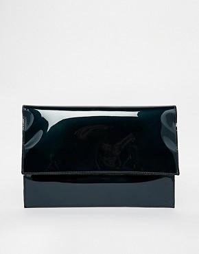 Image 1 ofASOS Oil Slick Foldover Clutch Bag