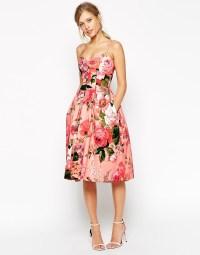 ASOS   ASOS SALON - Prom dress longuette a fascia con ...