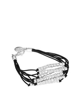 Jamie Jewelry Cord Bracelet with Silver Nugget Beads