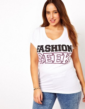 Image 1 - New Look Inspire - T-shirt « Fashion Geek »
