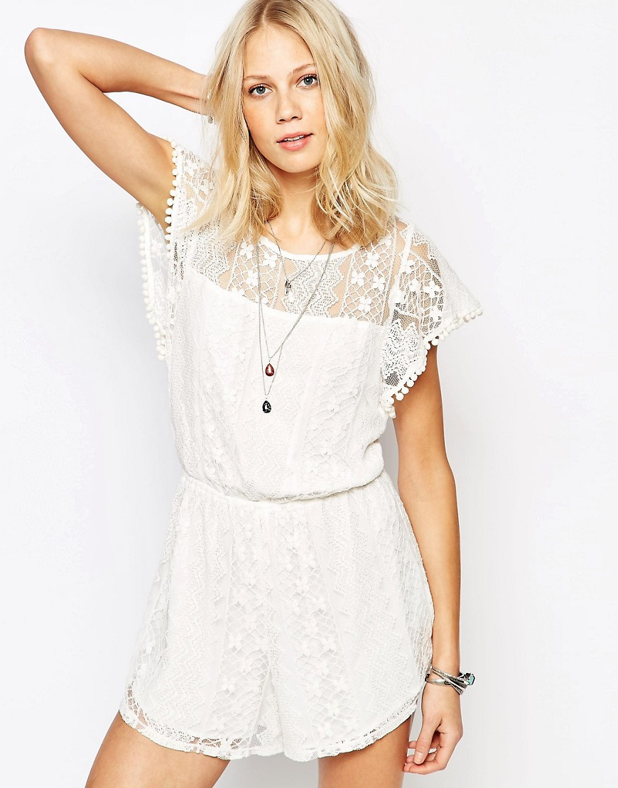 Image 1 ofAbercrombie & Fitch Lace Playsuit