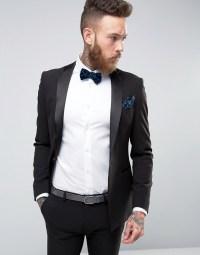 ASOS Super Skinny Tuxedo Suit Jacket In Black | Gay Times ...