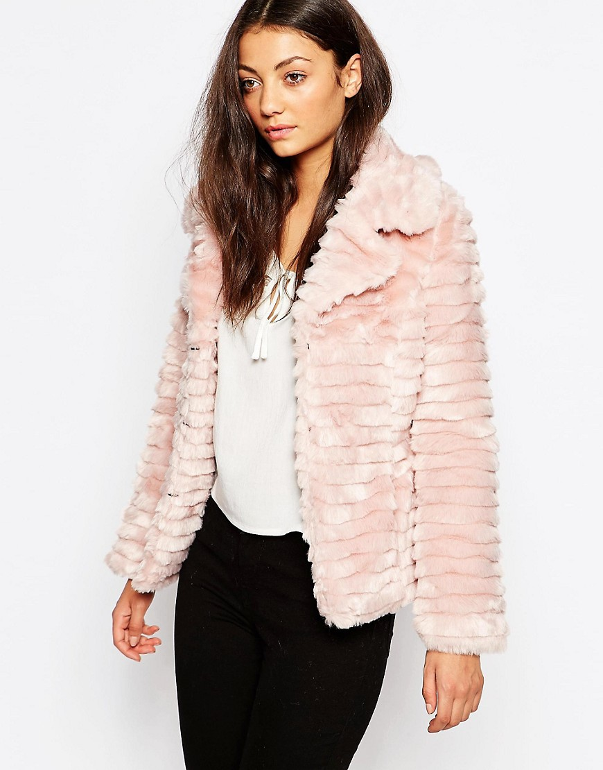 Image 1 of Brave Soul Short Faux Fur Jacket