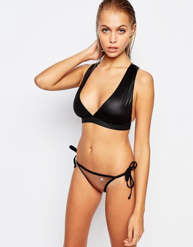 Neoprene Cross Back Bikini Top -  €50,68