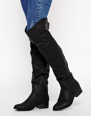 Image 1 of ASOS KING Over the Knee Boots