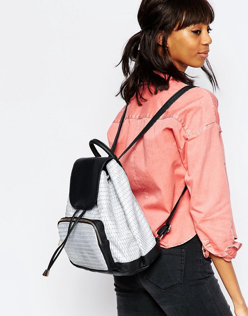 Image 3 of ASOS Contrast Mesh Backpack
