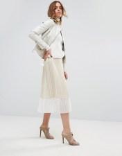 Sisley Sisley Pleated Midi Skirt - Beige 2018