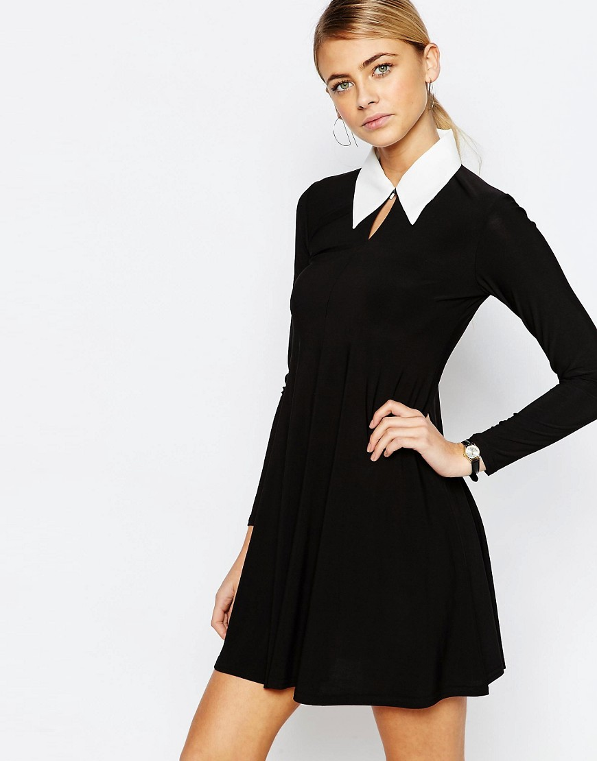 Image 1 of Love Tailored A Line Dress with Collar