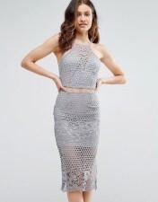 Girl In Mind Girl In Mind Lexi Lace Strappy Midi Dress Grey - Grey 2018
