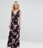City Goddess Petite City Goddess Petite Floral Maxi Dress - Navy 2018
