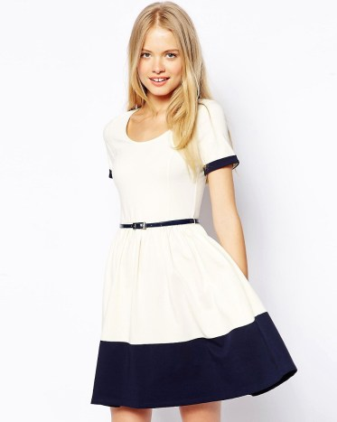 Skater Dress with Contrast Belt £28