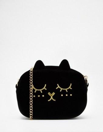 ASOS Cat Velvet Cross Body Bag 100 Cheap Thoughtful Gift Ideas For Her Under £20