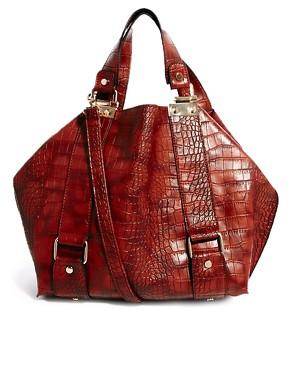 Image 1 ofNew Look Columbia Croc Print Tote Bag