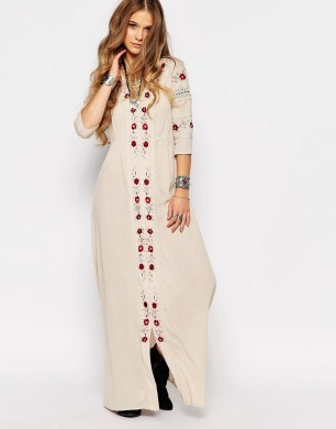Image 1 ofGlamorous Maxi Smock Dress With Festival Embroidery