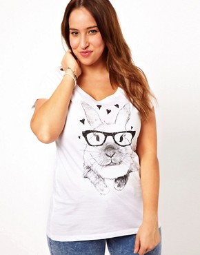 Image 1 - New Look Inspire - T-shirt motif lapin à lunettes