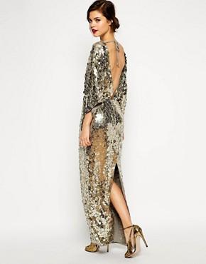 ASOS RED CARPET Premium All Over Sequin Kimono Maxi Dress