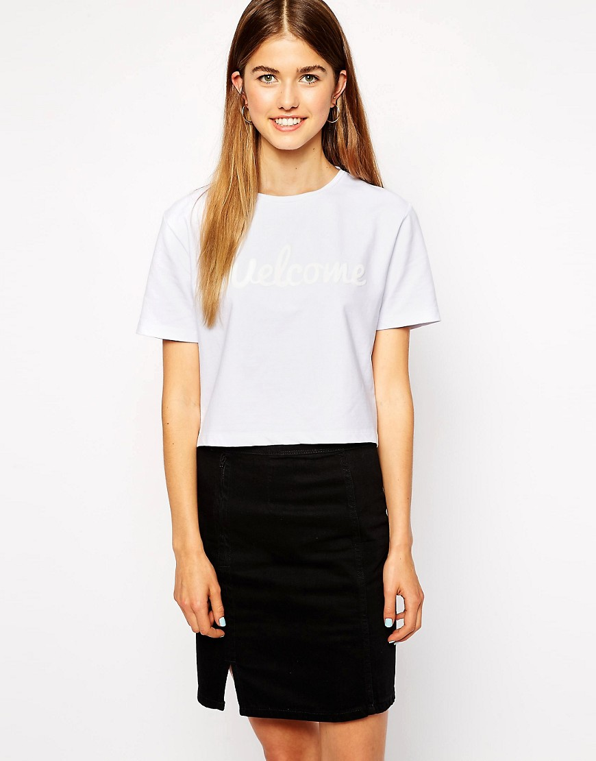 Image 1 of This Is Welcome Classic Logo Waist Grazer T-Shirt