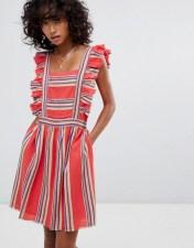d.RA d.RA Malibu Ruffle Front Dress - Red 2018