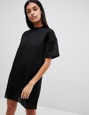 Uncivilised Uncivilised Mesh Tee Dress - Black 2018