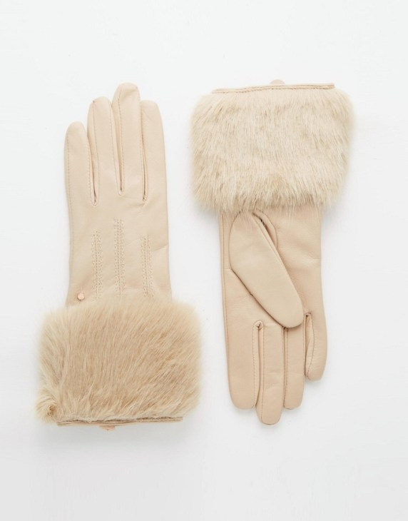 Image 1 of Ted Baker Fur Lined Leather Glove