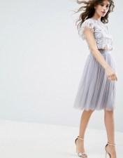 Needle & Thread Needle & Thread Tulle Midi Skirt - Blue 2018