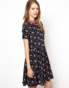 NW3 Shirt Dress in Carnation Print
