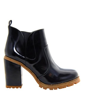 Chelsea Ankle Boots aus Kunstleder