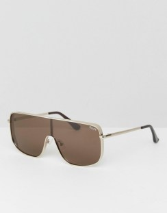 9bd45f570c Quay Australia X Kylie Jenner Unbothered Visor Sunglasses In Brown - Brown
