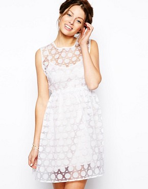 Little White Lies Layered Polka Dot Organza Dress