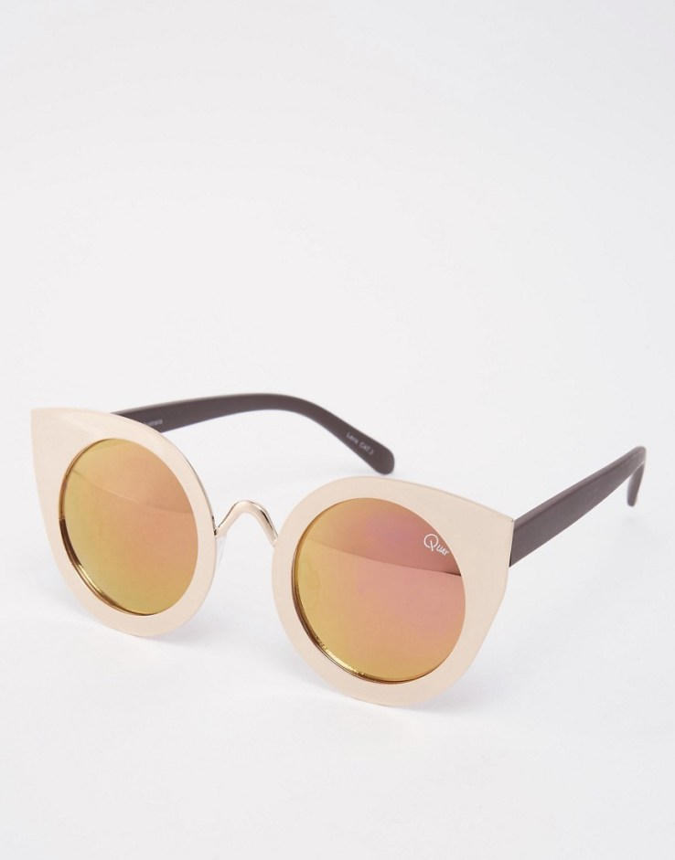 Quay Australia Tainted Love Mirror Sunglasses