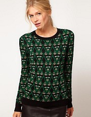 ASOS Christmas Jumper With Metallic Pattern