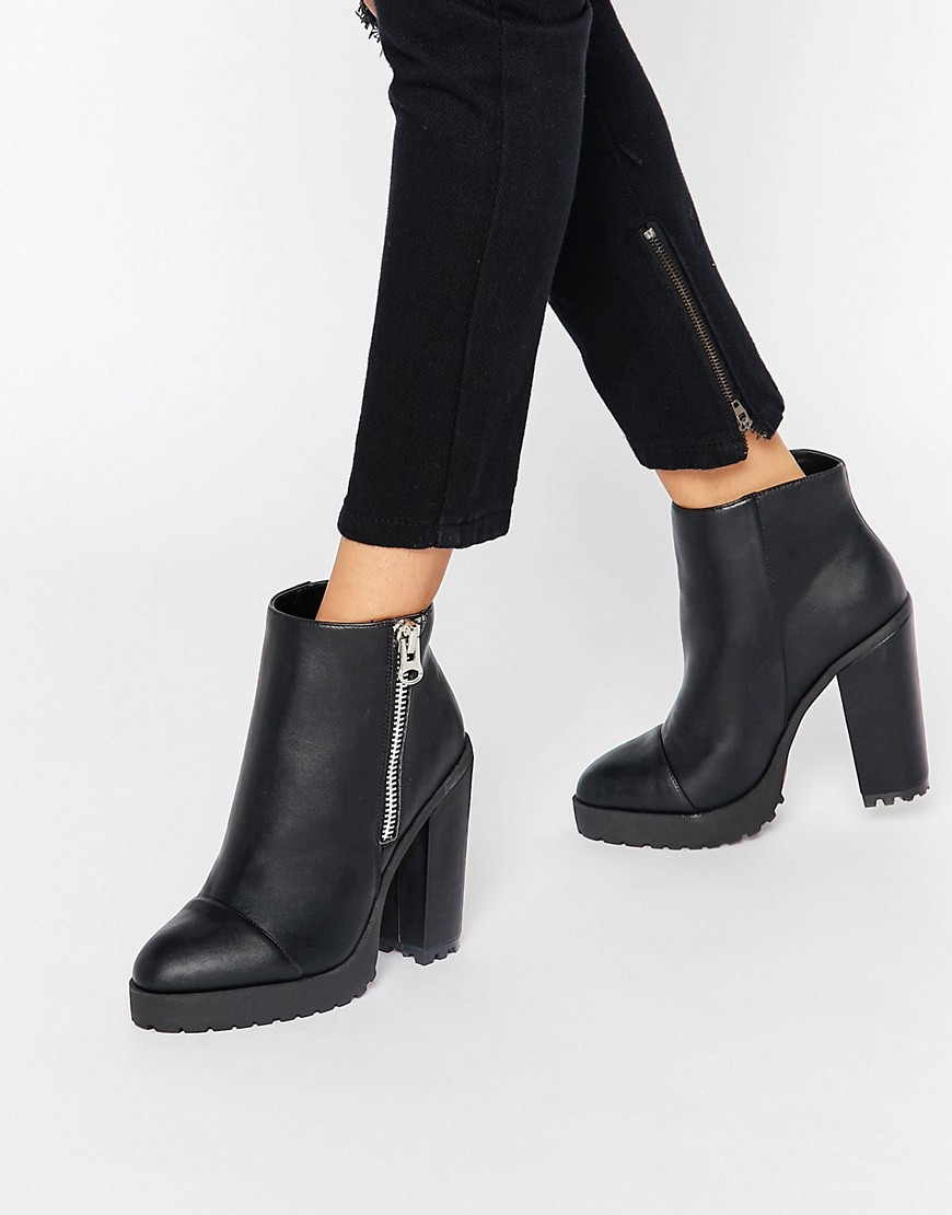 ASOS ELEANORY Chunky Ankle Boots
