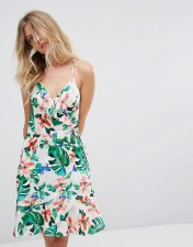Mango Mango Tropical Wrap Dress - Green 2018