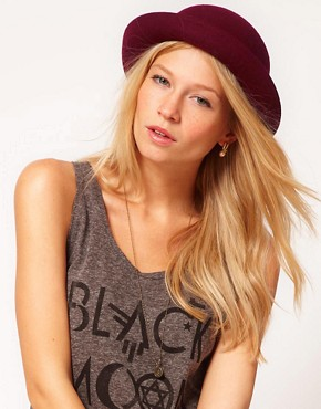 Image 1 of ASOS Roll Brim Felt Boater