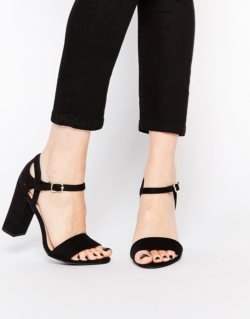 Image 1 ofNew Look 2 Part Block Heel Sandal