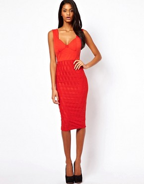 ASOS Sexy Pencil Dress in Textured Jersey.