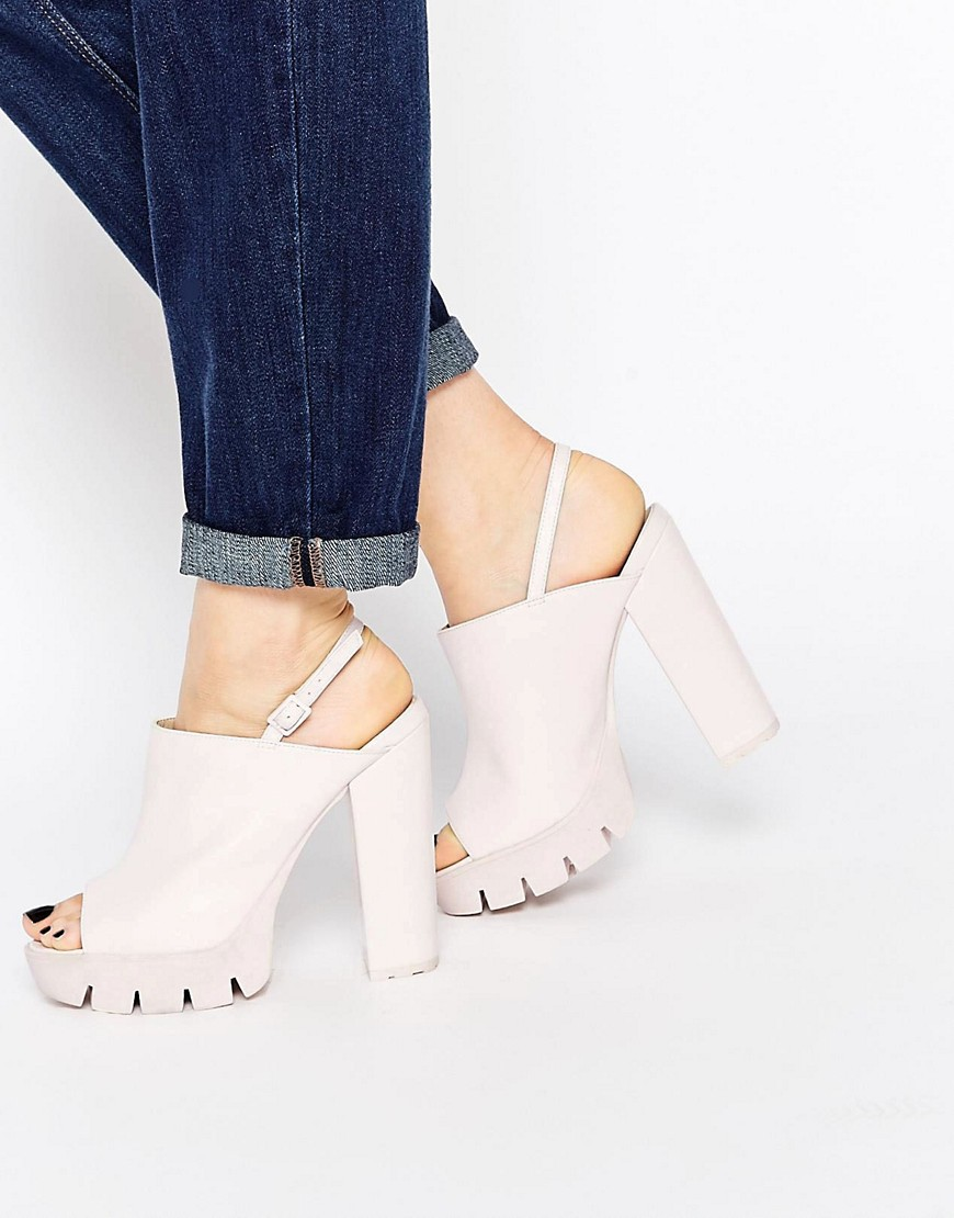 Image 1 of ASOS THEME Mule Platform Sandals