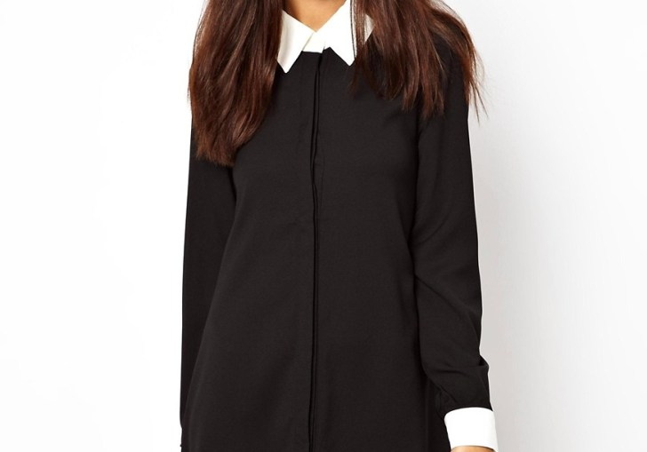 Black Dress With Collar And Cuffs