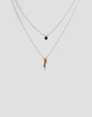 aldo gold charm necklaces