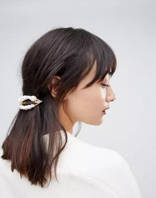asos design barette hair clip