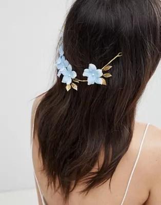 asos design bridal blue