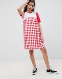 ASOS DESIGN gingham mix smock dress | ASOS