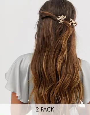 asos design hair clips with butterflies