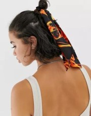 asos design hair scarf in flame