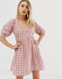 ASOS DESIGN mini smock dress in gingham | ASOS