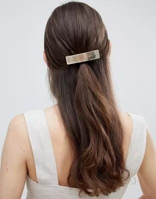 asos design sleek barette hair