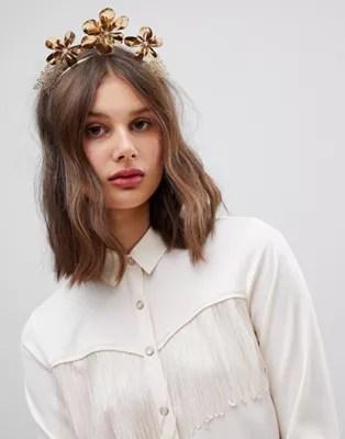 asos design statement hair crown
