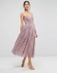 ASOS   ASOS Lace Cami Midi Prom Dress