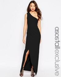 ASOS Tall | ASOS TALL RED CARPET One Shoulder Maxi Dress