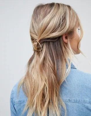 designb london gold open hair clip